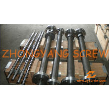 Single Extruder Screw Barrel for Plastic Recyling Screw Extruder Machine